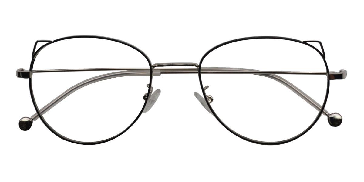 -Silver-Cat-Metal-Eyeglasses-detail