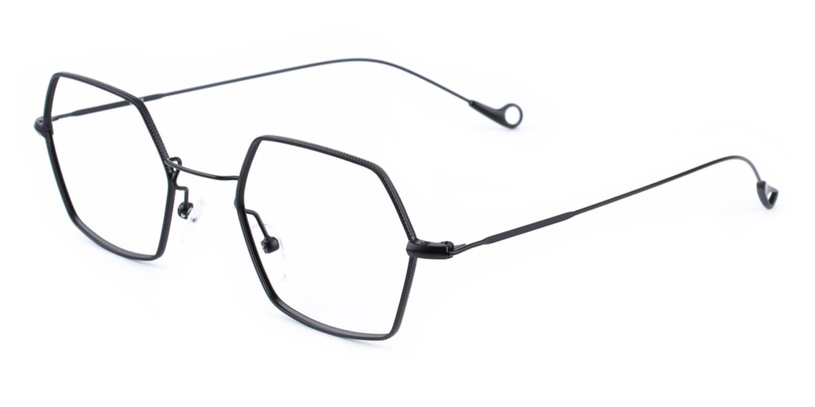 Goldien-Black-Geometric-Metal-Eyeglasses-additional1