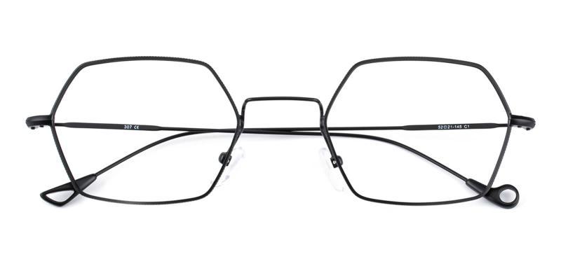 Goldien-Black-Eyeglasses