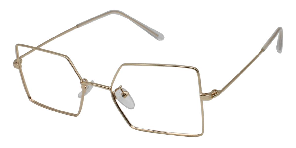 -Gold-Geometric-Metal-Eyeglasses-additional1