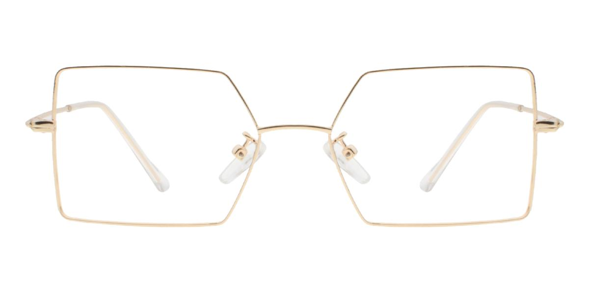 -Gold-Geometric-Metal-Eyeglasses-additional2