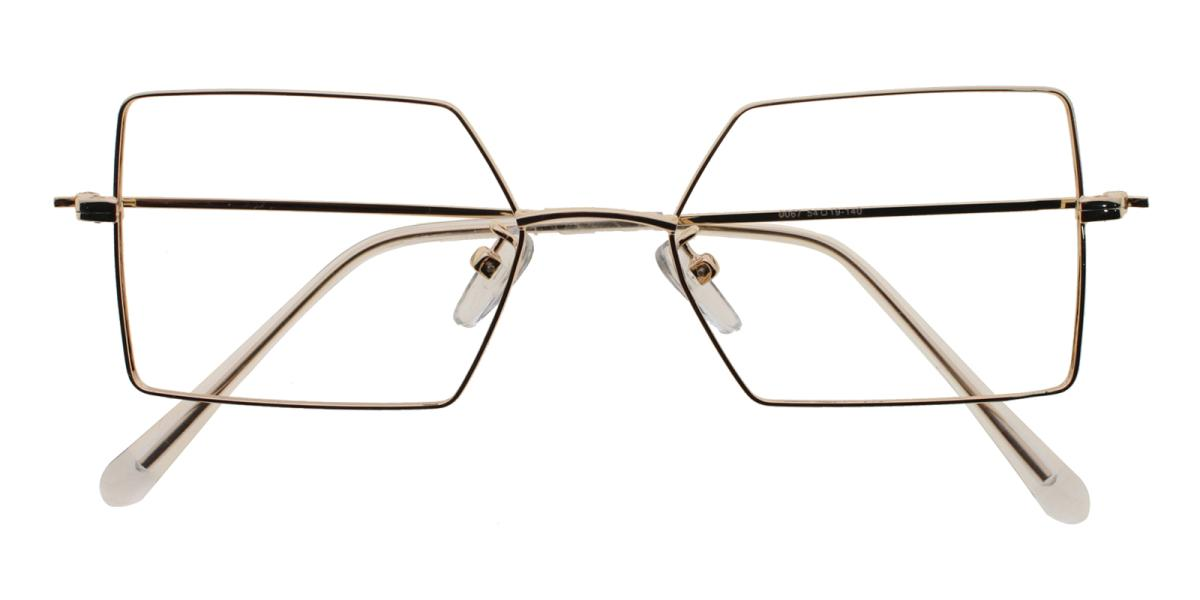 -Gold-Geometric-Metal-Eyeglasses-detail