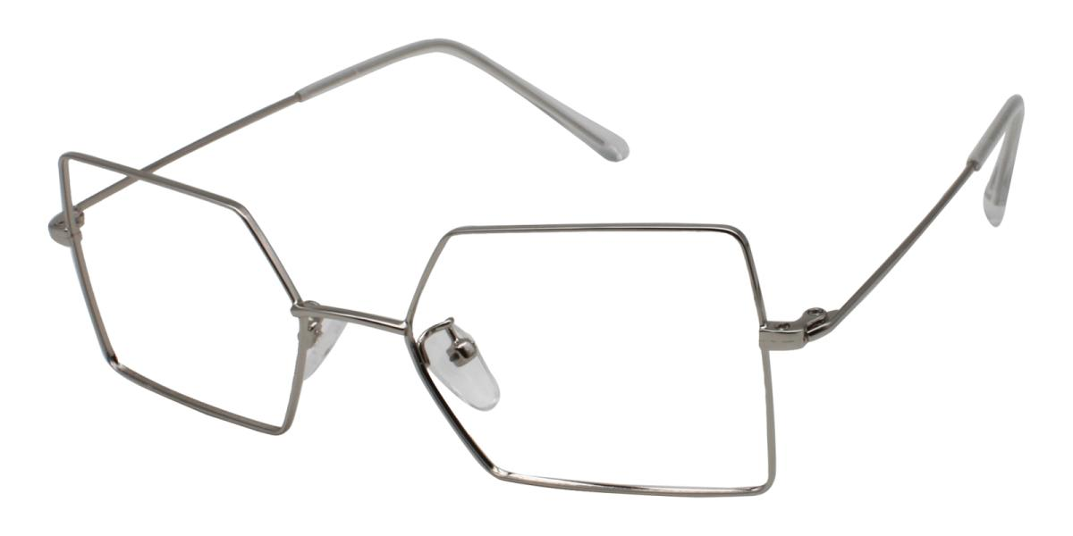 -Silver-Geometric-Metal-Eyeglasses-additional1
