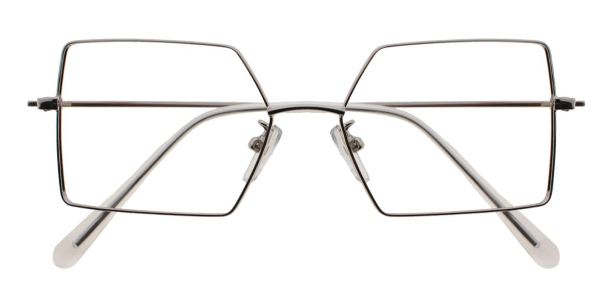 -Silver-Geometric-Metal-Eyeglasses-additional2