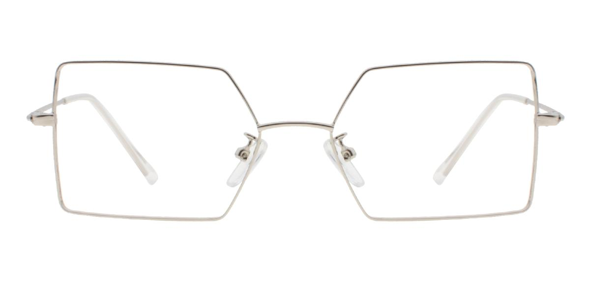 -Silver-Geometric-Metal-Eyeglasses-detail