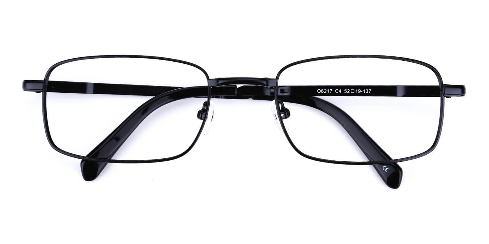 Norfolk-Black-Rectangle-Metal-Eyeglasses-detail