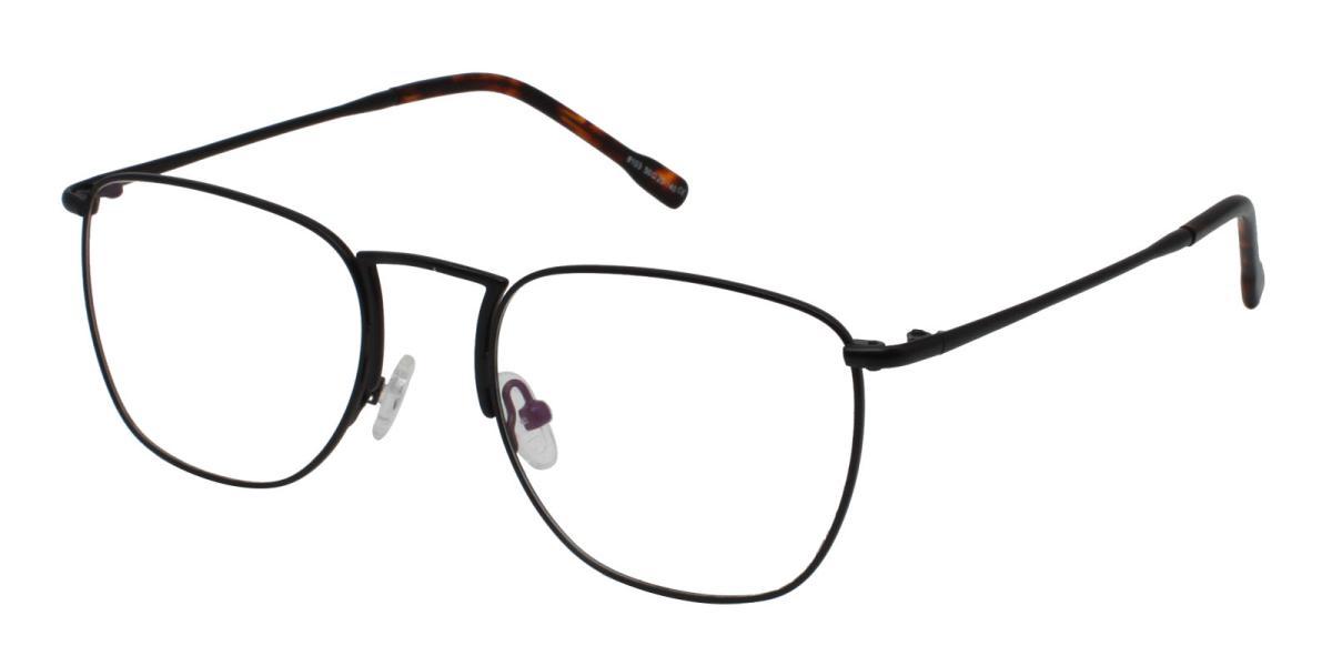 -Black-Square-Metal-Eyeglasses-detail