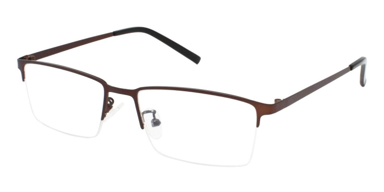 Bezel-Brown-Rectangle-Metal-Eyeglasses-detail