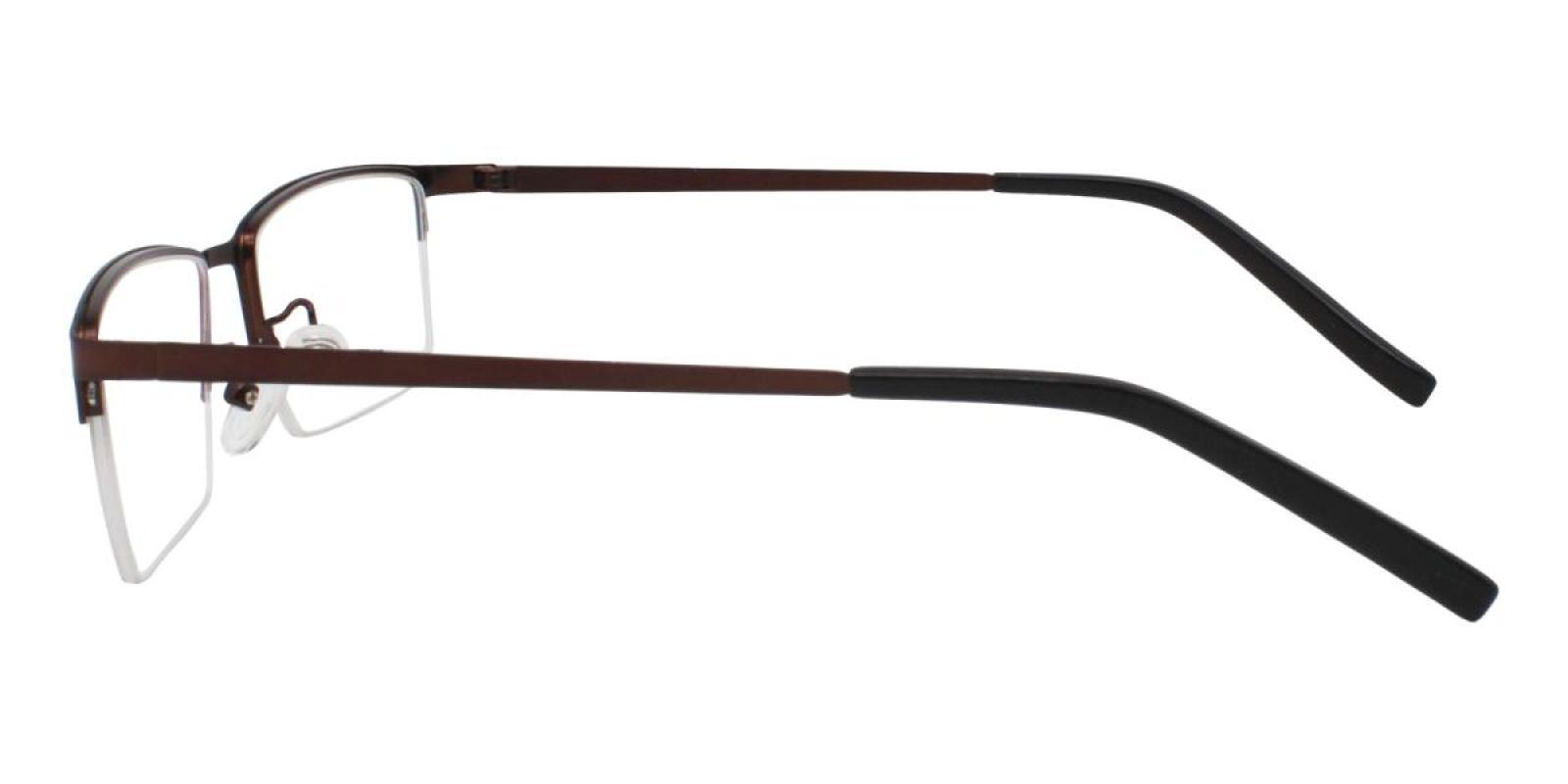 Bezel-Brown-Rectangle-Metal-Eyeglasses-additional3