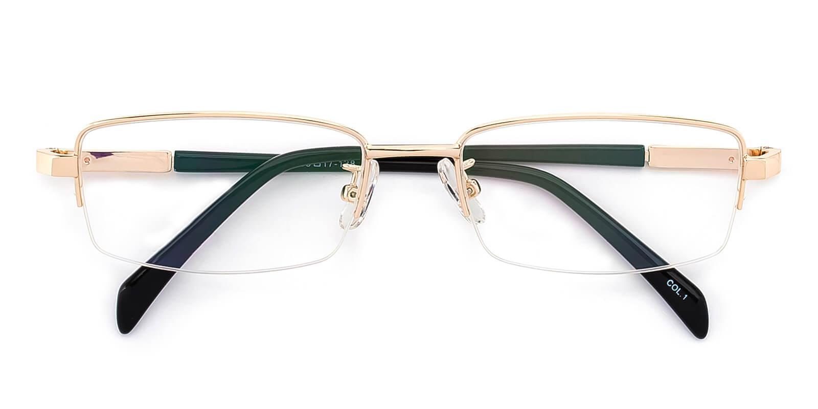 Furox-Gold-Rectangle-Metal-Eyeglasses-detail