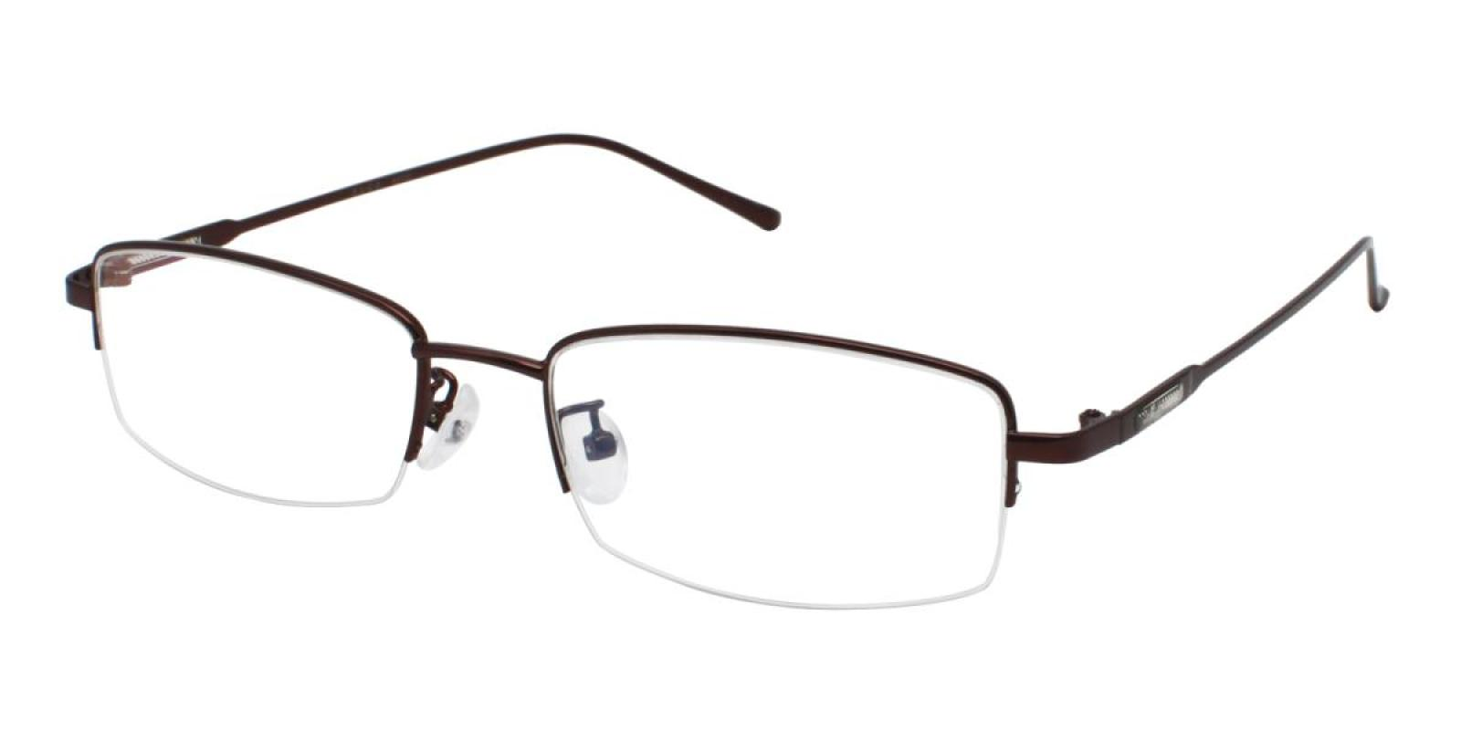 Germantown-Brown-Rectangle-Metal-Eyeglasses-additional1