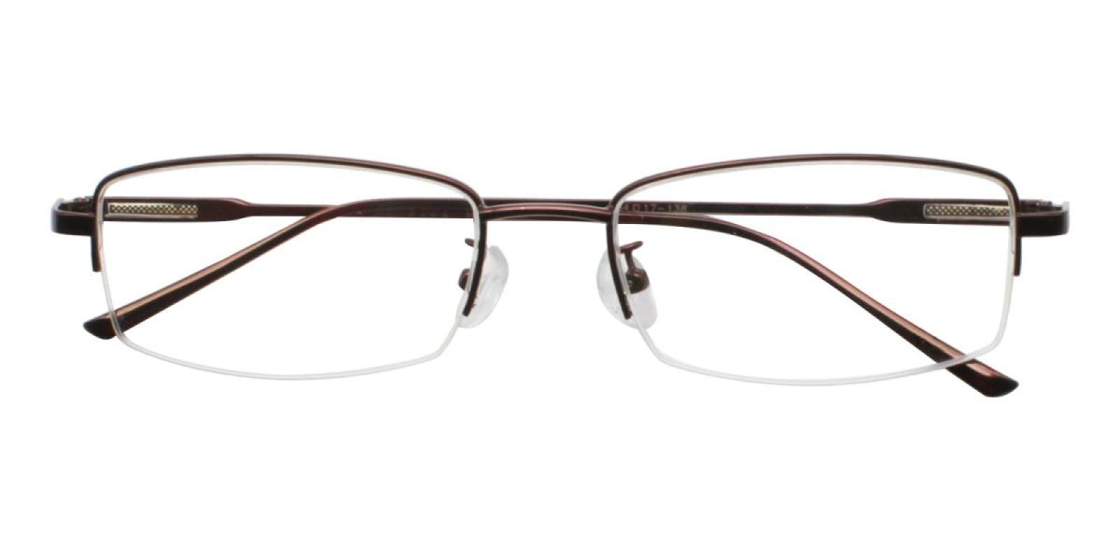Germantown-Brown-Rectangle-Metal-Eyeglasses-detail