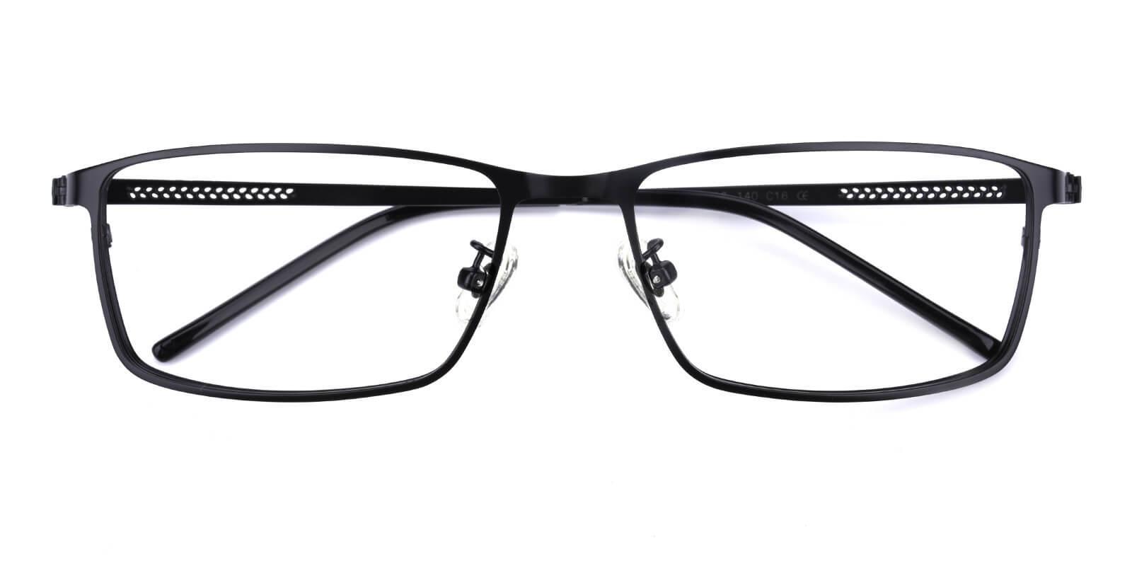 Pansney-Black-Rectangle-Metal-Eyeglasses-detail