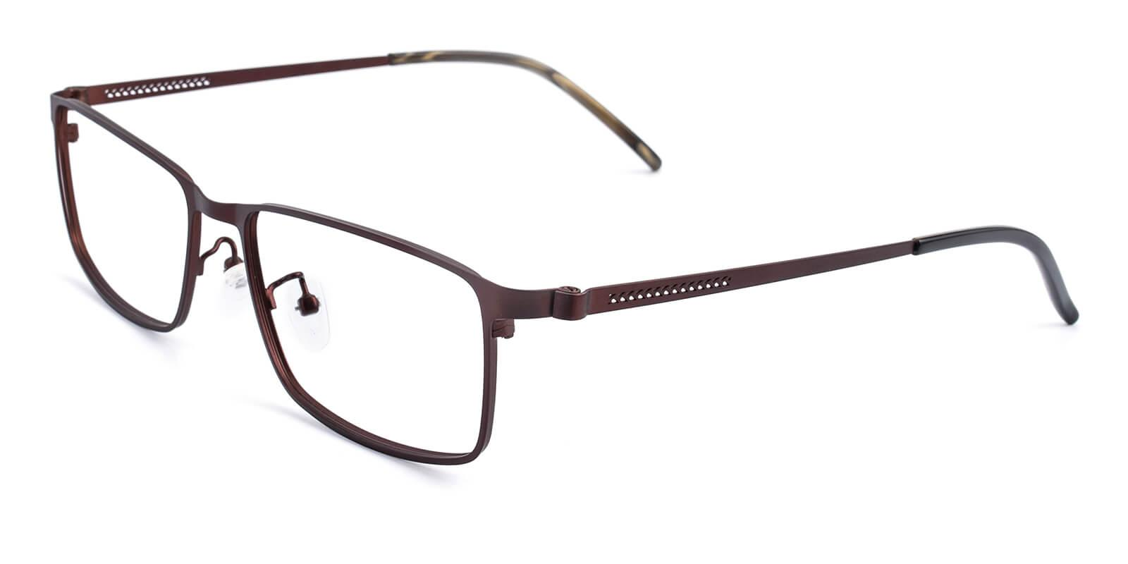 Pansney-Brown-Rectangle-Metal-Eyeglasses-detail