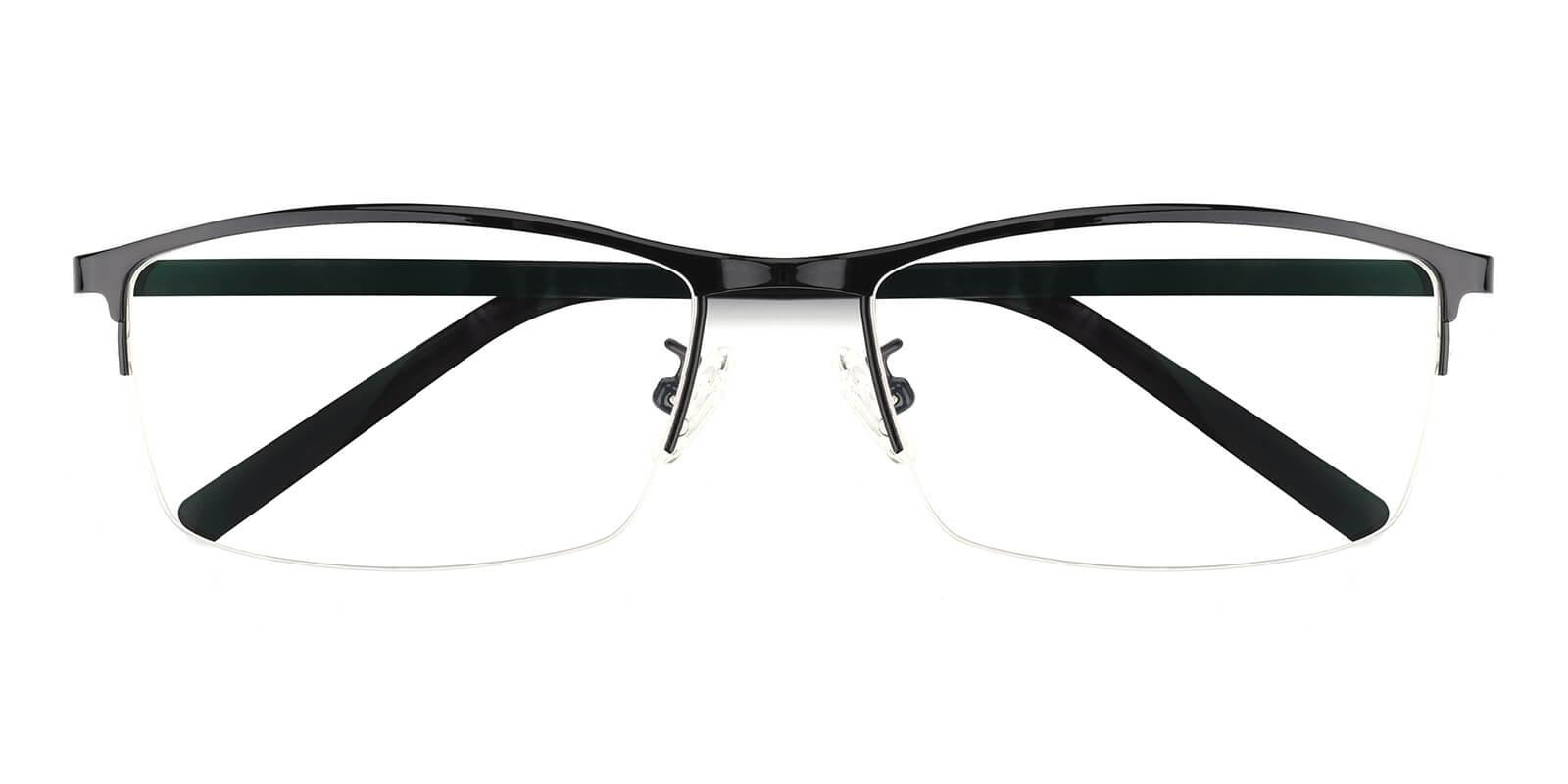 Elegant-Black-Rectangle-Metal-Eyeglasses-detail