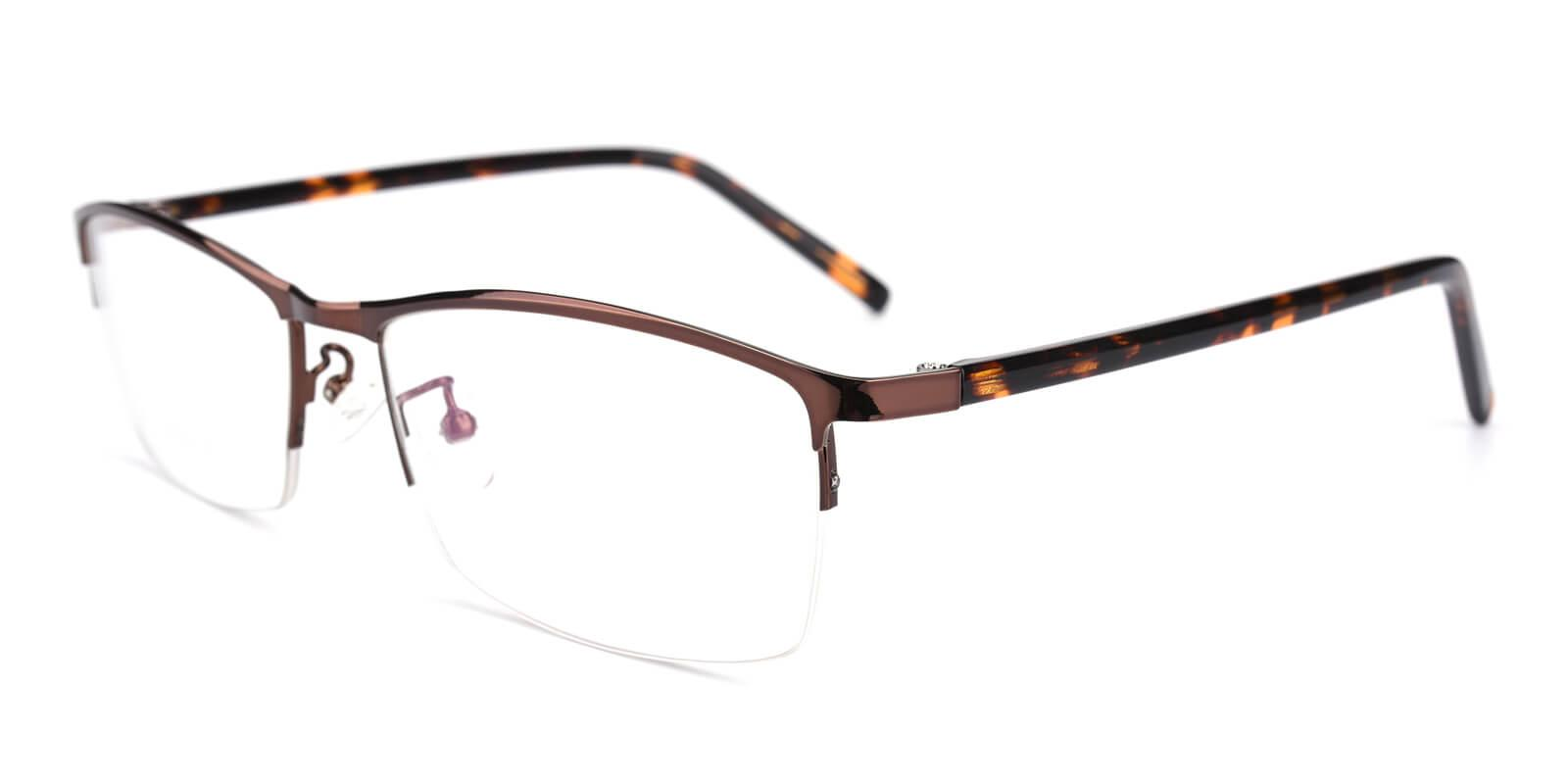 Elegant-Brown-Rectangle-Metal-Eyeglasses-additional1