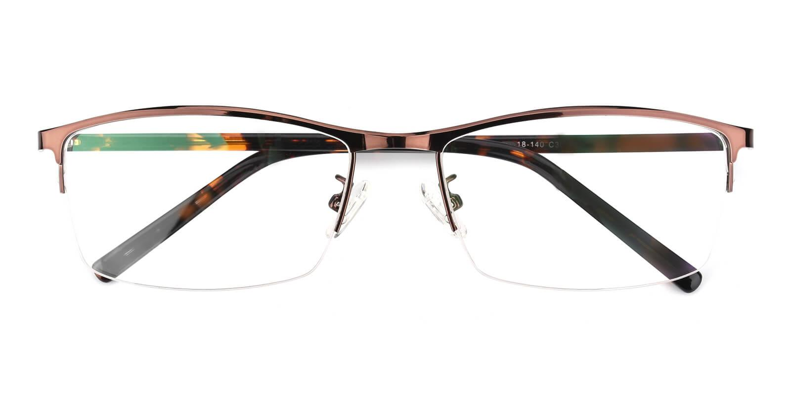 Elegant-Brown-Rectangle-Metal-Eyeglasses-detail