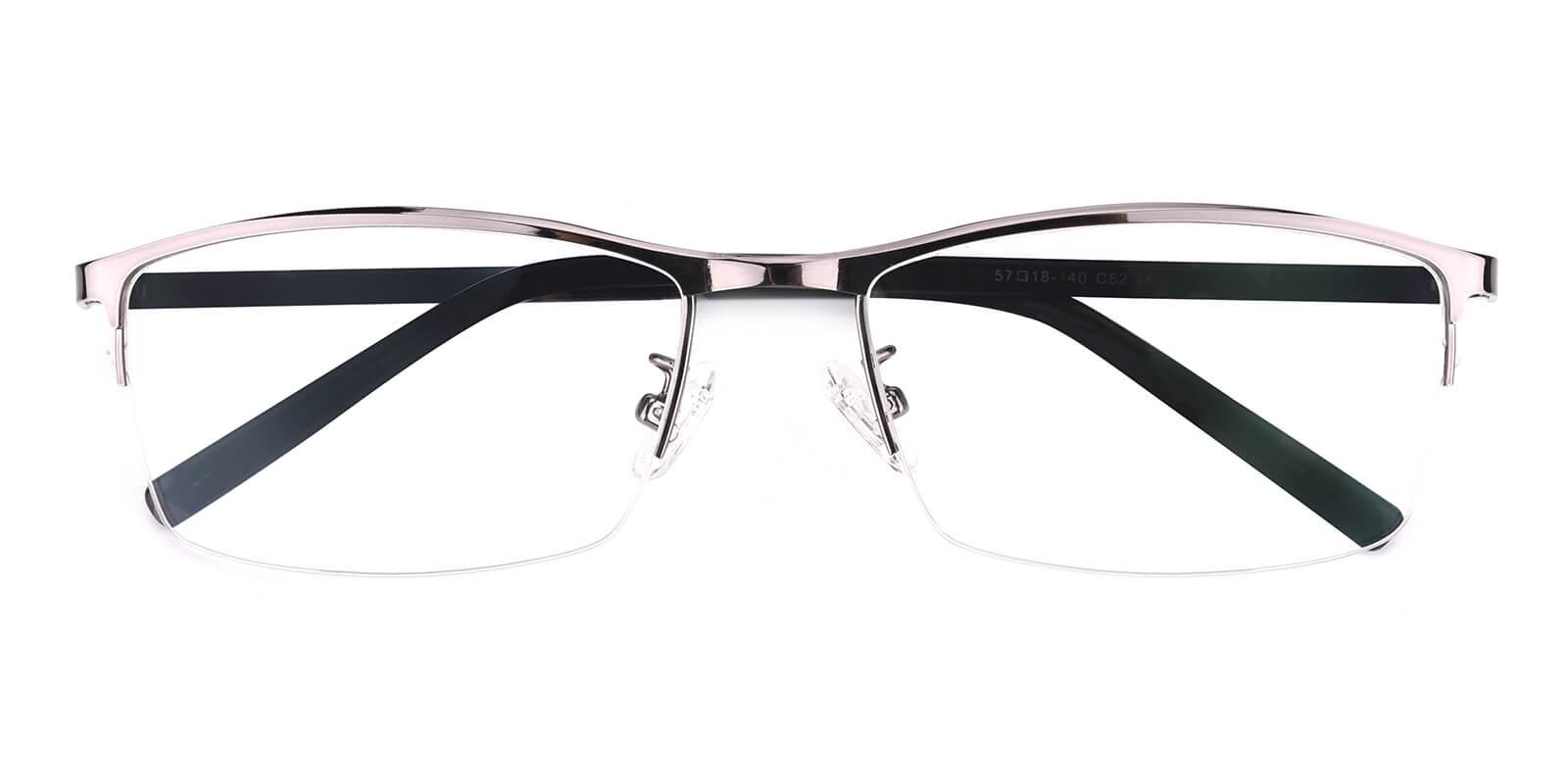 Elegant-Gun-Rectangle-Metal-Eyeglasses-detail