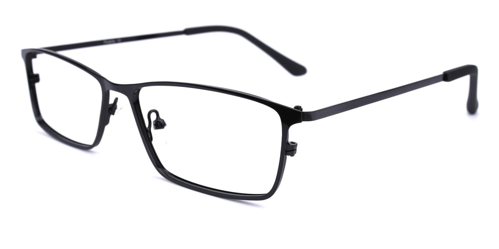 Wildfire-Black-Rectangle-Metal-Eyeglasses-detail