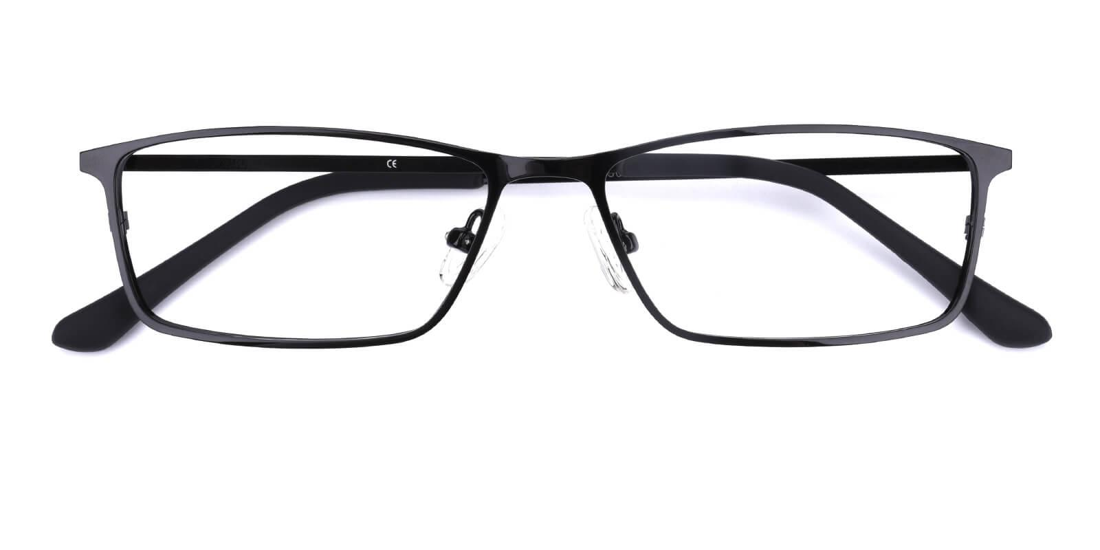 Wildfire-Black-Rectangle-Metal-Eyeglasses-detail