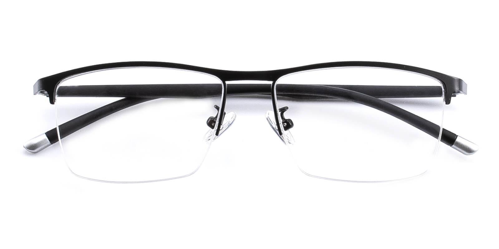 Simon-Black-Rectangle-Metal-Eyeglasses-detail