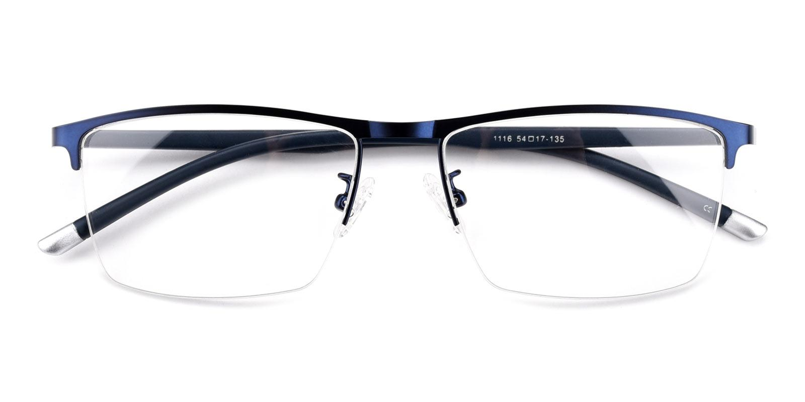 Simon-Blue-Rectangle-Metal-Eyeglasses-detail