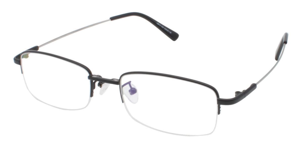 Limboda-Black-Rectangle-Metal-Eyeglasses-additional1