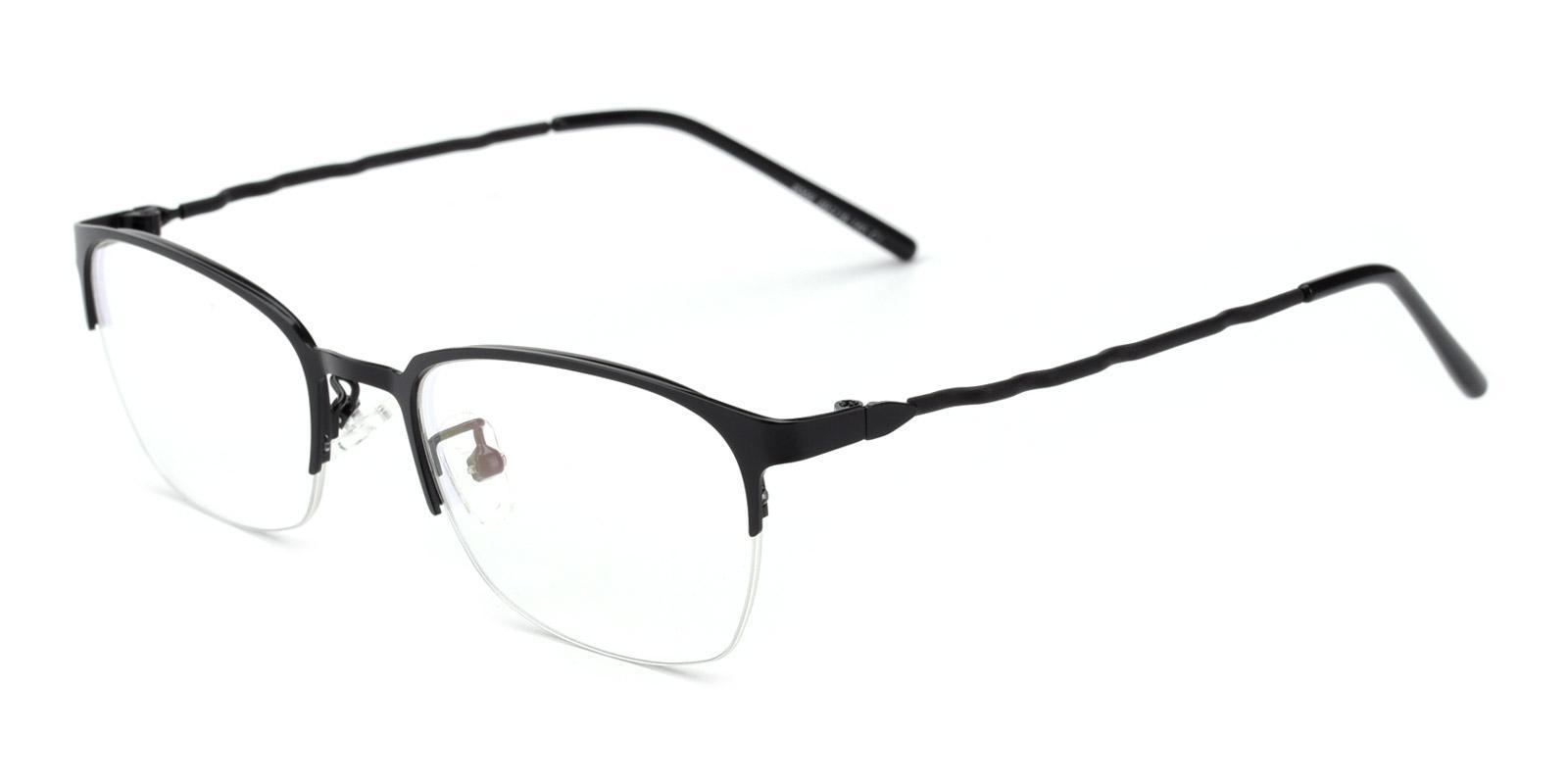 Wavain-Black-Rectangle-Metal-Eyeglasses-detail