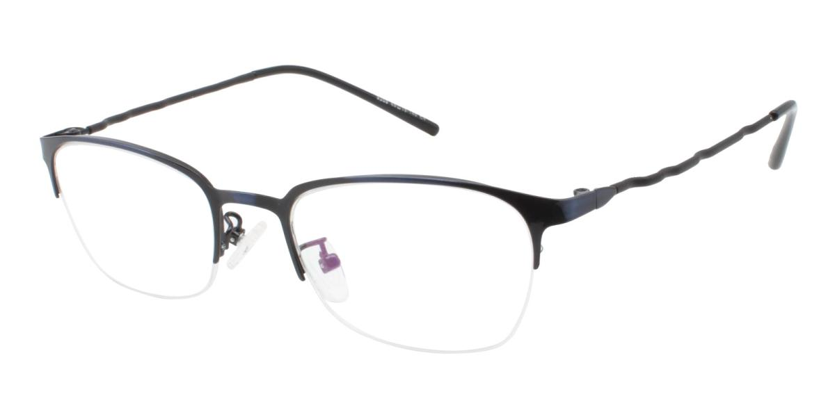 Wavain-Blue-Rectangle-Metal-Eyeglasses-additional1