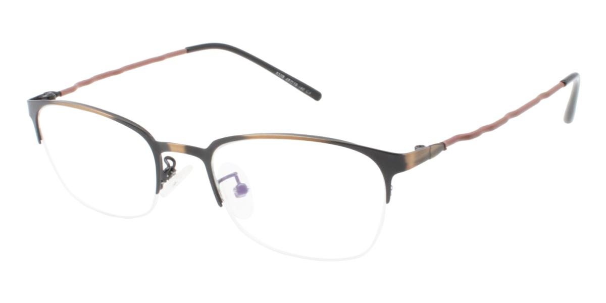 Wavain-Brown-Rectangle-Metal-Eyeglasses-additional1