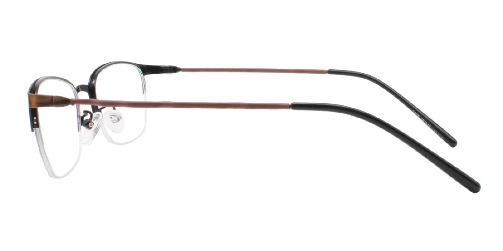 Wavain-Brown-Rectangle-Metal-Eyeglasses-detail