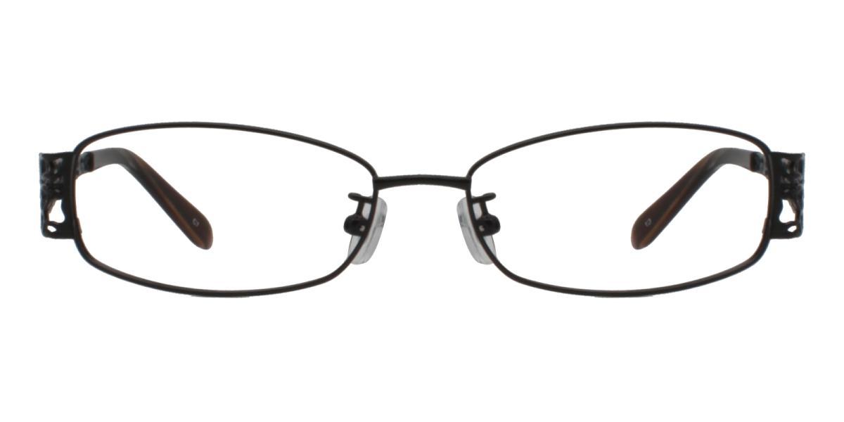 -Black-Rectangle-Metal-Eyeglasses-detail