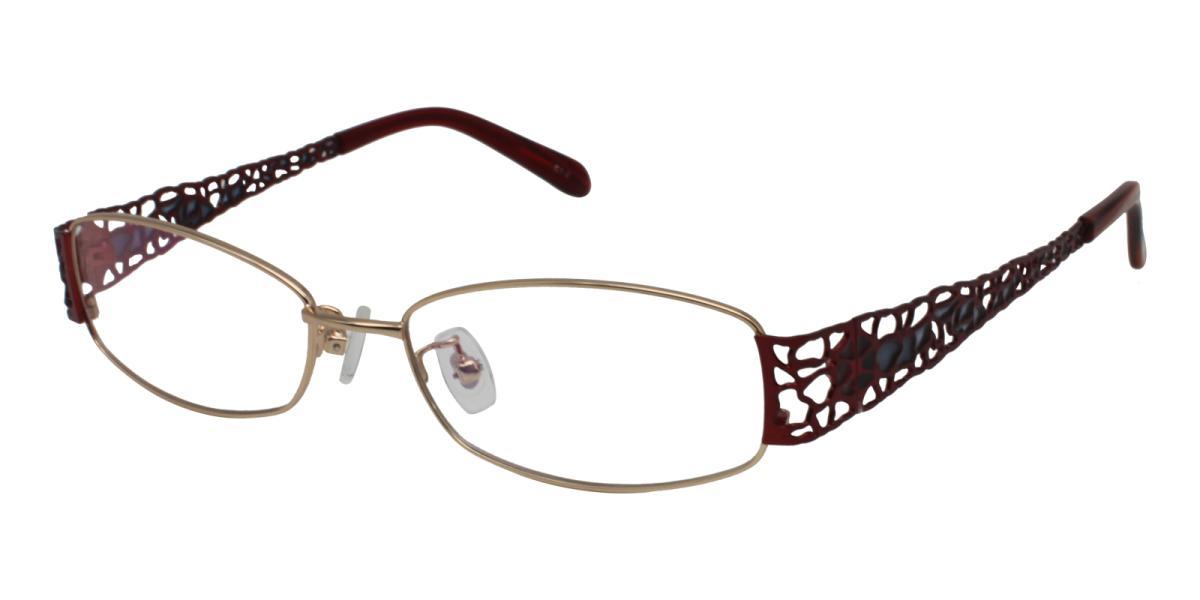 -Gold-Rectangle-Metal-Eyeglasses-detail
