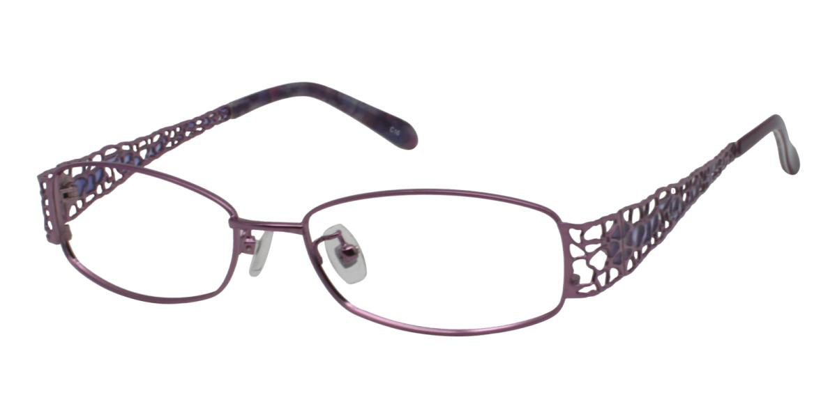 -Pattern-Rectangle-Metal-Eyeglasses-additional1