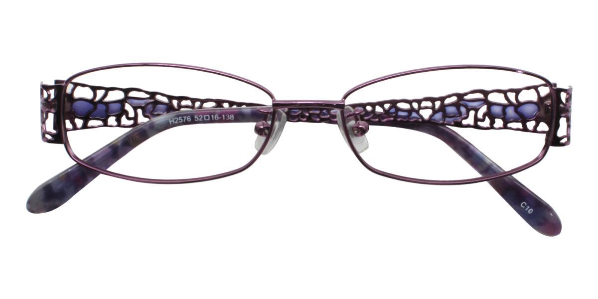 -Pattern-Rectangle-Metal-Eyeglasses-detail