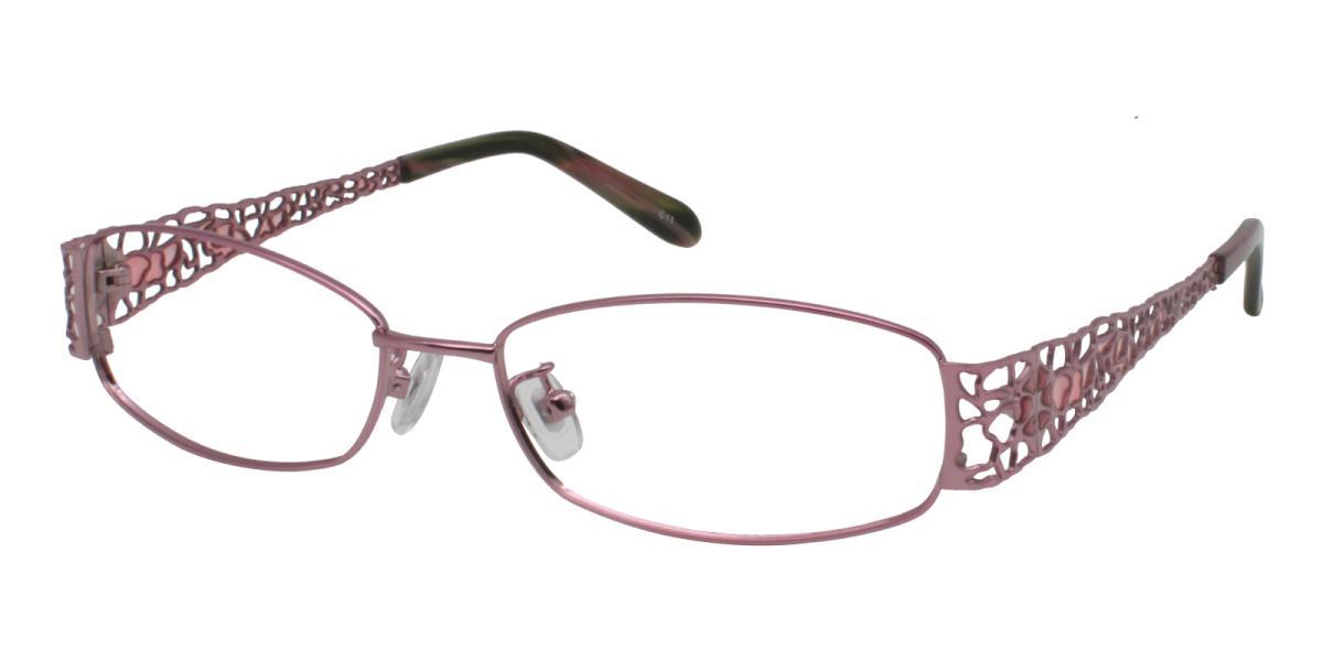 -Pink-Rectangle-Metal-Eyeglasses-additional1