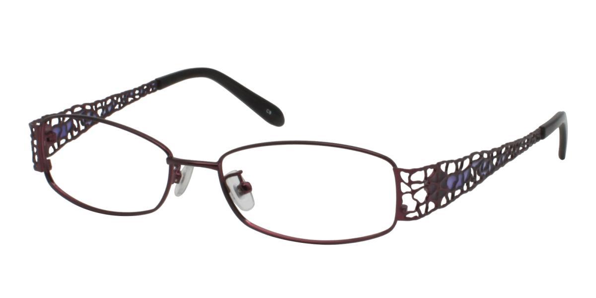 -Purple-Rectangle-Metal-Eyeglasses-additional1