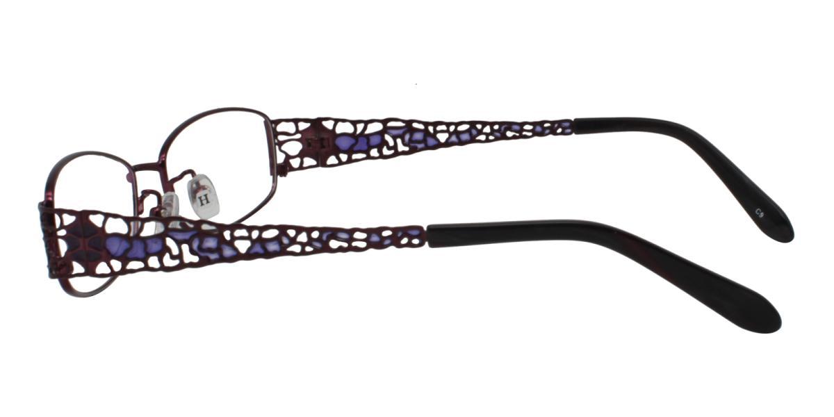 -Purple-Rectangle-Metal-Eyeglasses-additional3
