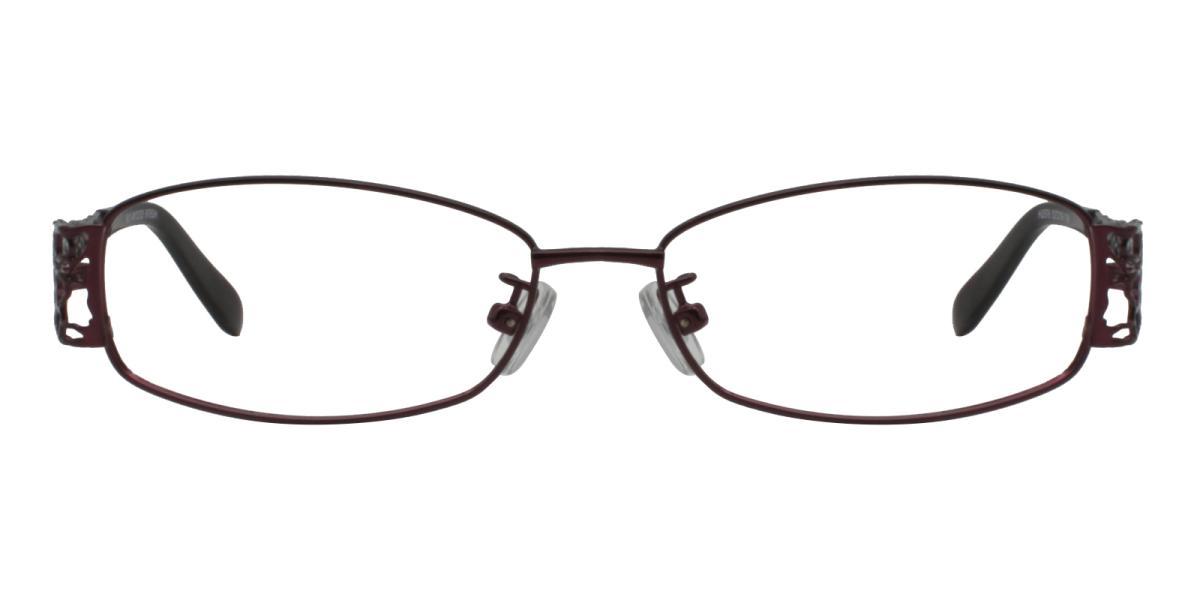 -Purple-Rectangle-Metal-Eyeglasses-detail