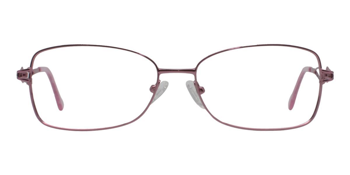 -Pink-Rectangle-Metal-Eyeglasses-detail