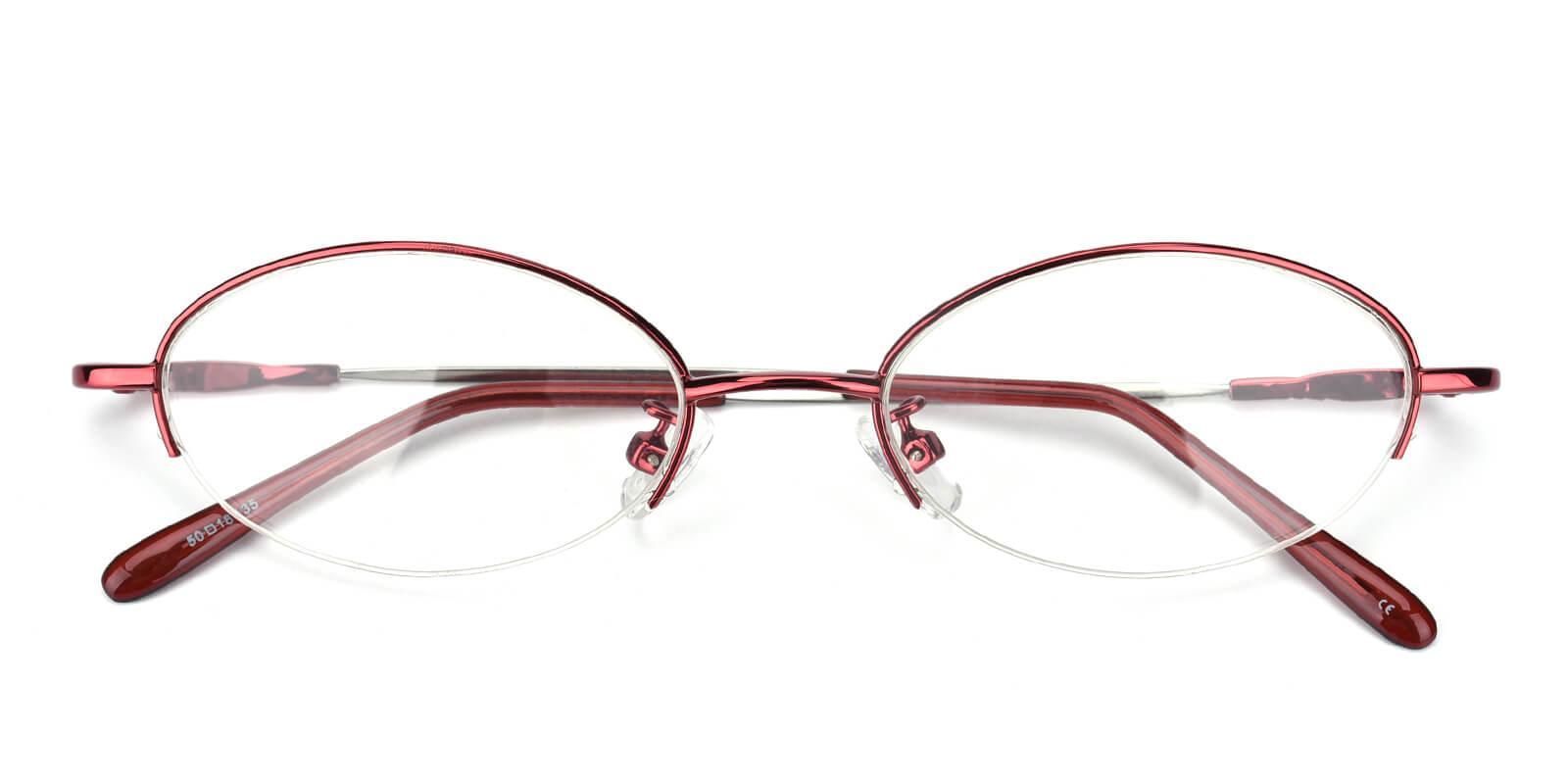 Anthony-Red-Oval-Metal-Eyeglasses-detail