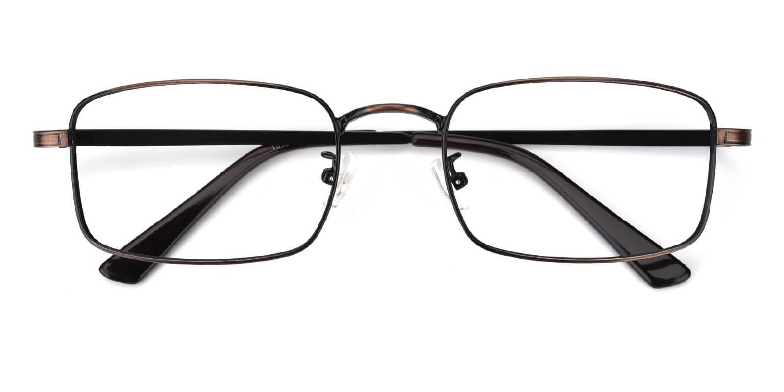 Edmonton-Brown-Rectangle-Metal-Eyeglasses-detail