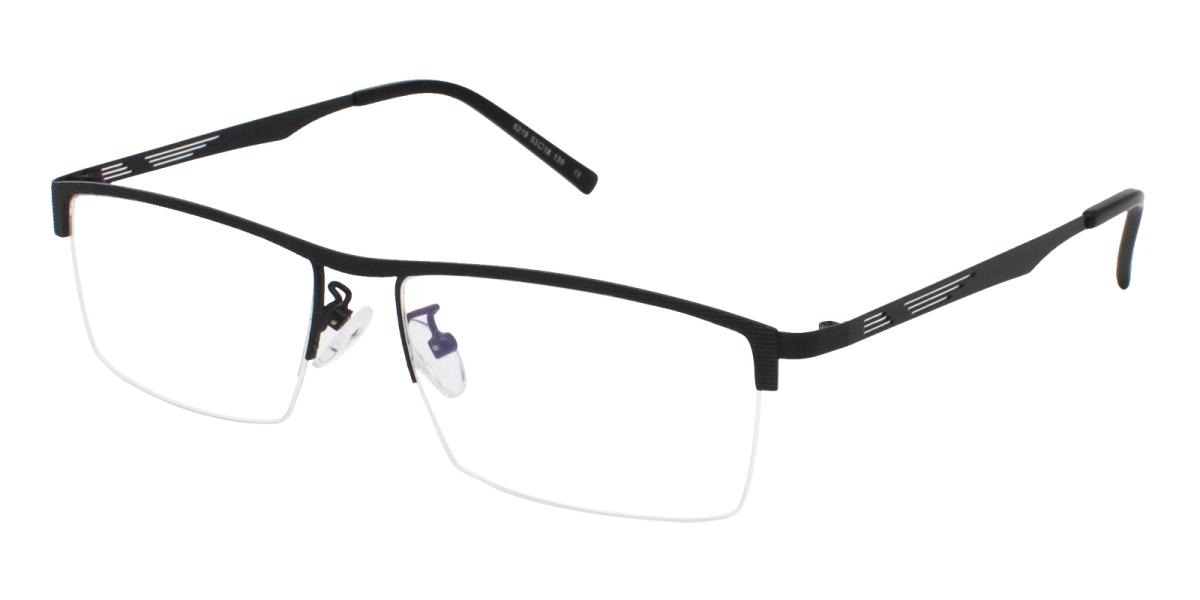 Rally-Black-Rectangle-Metal-Eyeglasses-additional1