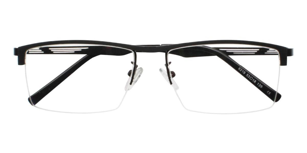 Rally-Black-Rectangle-Metal-Eyeglasses-detail