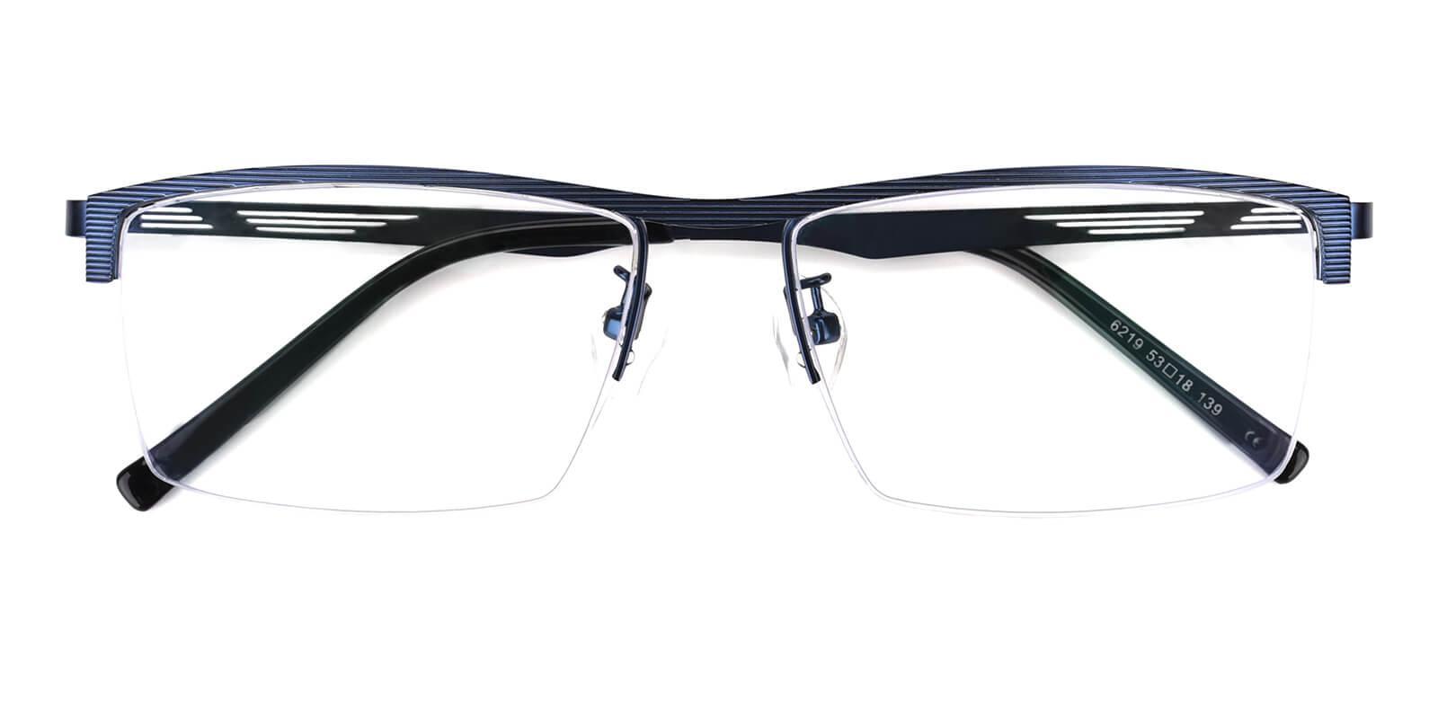 Rally-Blue-Rectangle-Metal-Eyeglasses-detail