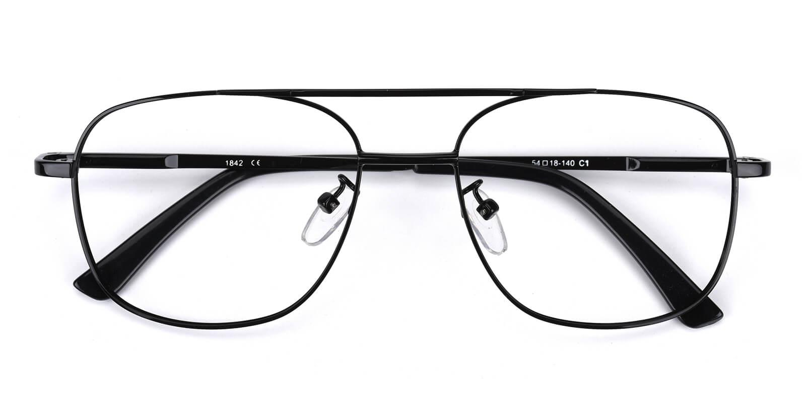 Sally-Black-Aviator-Metal-Eyeglasses-detail