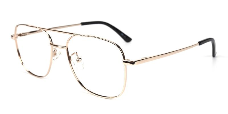 Sally-Gold-Eyeglasses / NosePads / SpringHinges