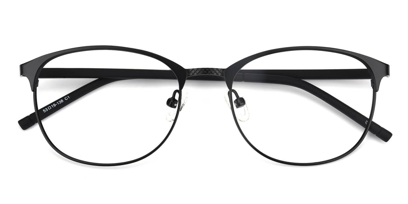 Gorge-Black-Round-Metal-Eyeglasses-detail