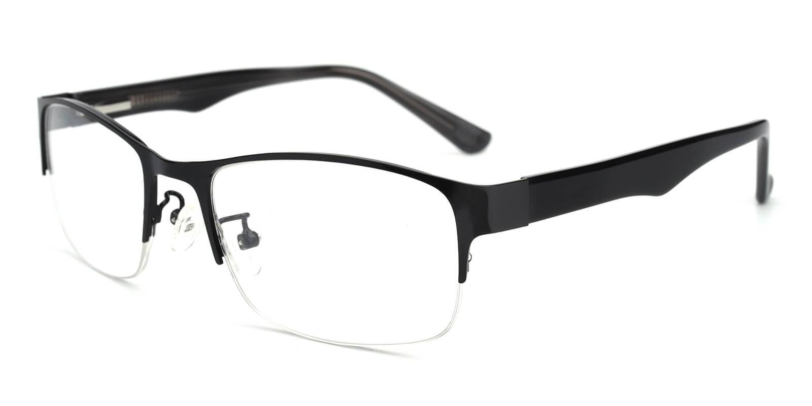 Sapphire-Black-Rectangle-Metal-Eyeglasses-detail