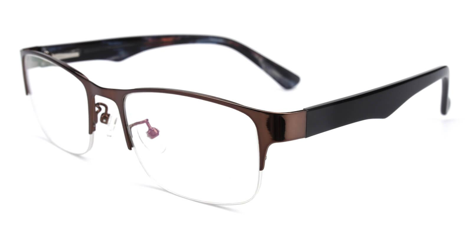 Sapphire-Brown-Rectangle-Metal-Eyeglasses-additional1